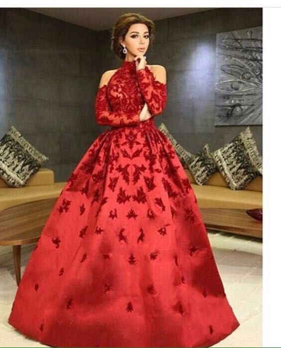 Hot Sale Wine Red Matt Satin With Lace Appliques Prom Evening Dresses 2017