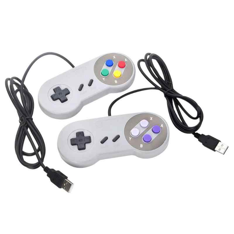 Kontroler usb Joystick do gier gamepad do konsoli Nintendo SNES pad do grania na Windows PC na MAC sterowanie komputerowe Joystick