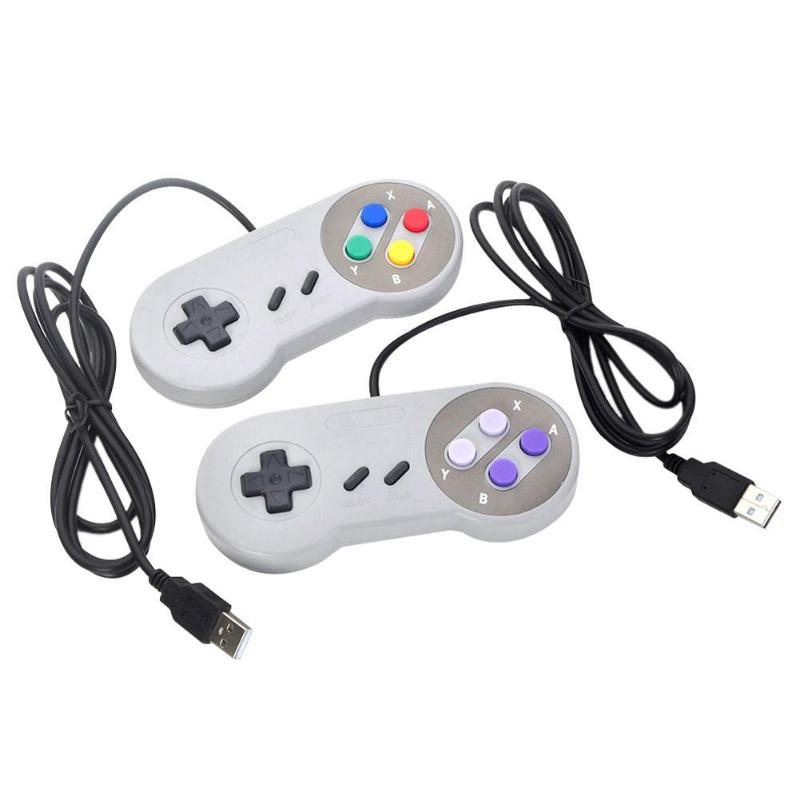 4 Buttons Super Nintendo SNES USB Game Controller for PC/MAC Controllers image