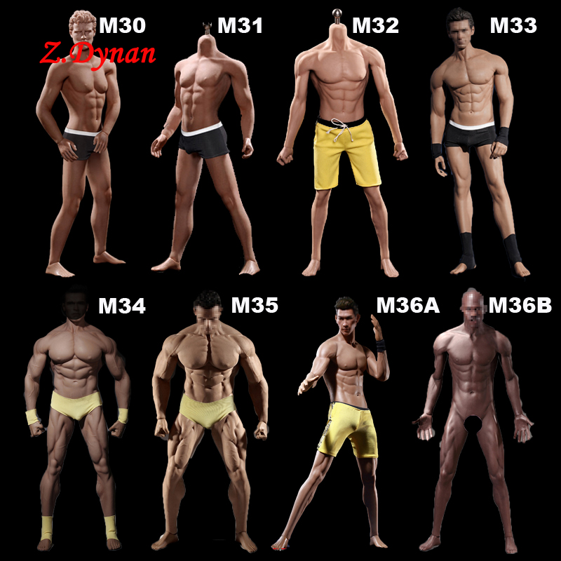 1:6 Steel Stainless Skeleton Body with Head TBLeague M30 M31 M32 M33 M34 M35 1/6 Super Flexible Seamless Male Doll Body Man Body