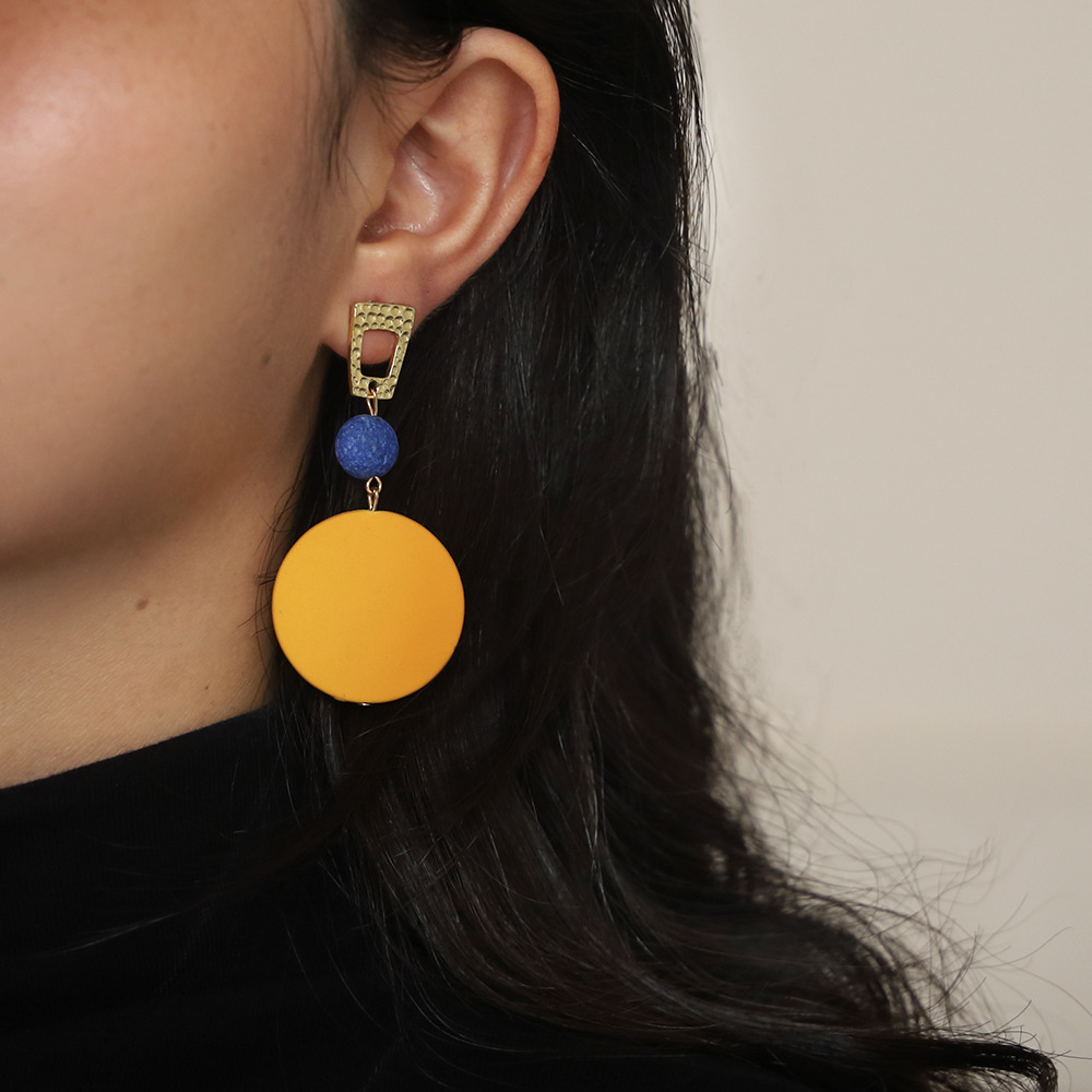 Vertily Hollow Earring Pineapple Fruit Earrings Bohemian Earrings Geometric Earrings Fashion Women Bohemia Pineapple Hollow Earrings Metal Alloy Vintage Geometric