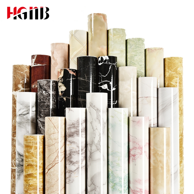 Grueso impermeable PVC imitación mármol patrón pegatinas papel tapiz autoadhesivo 3D pared papel cocina renovación de muebles PVC 3D pegatina extraíble base borde autoadhesivo impermeable patrón papel pintado borde decoración de pared