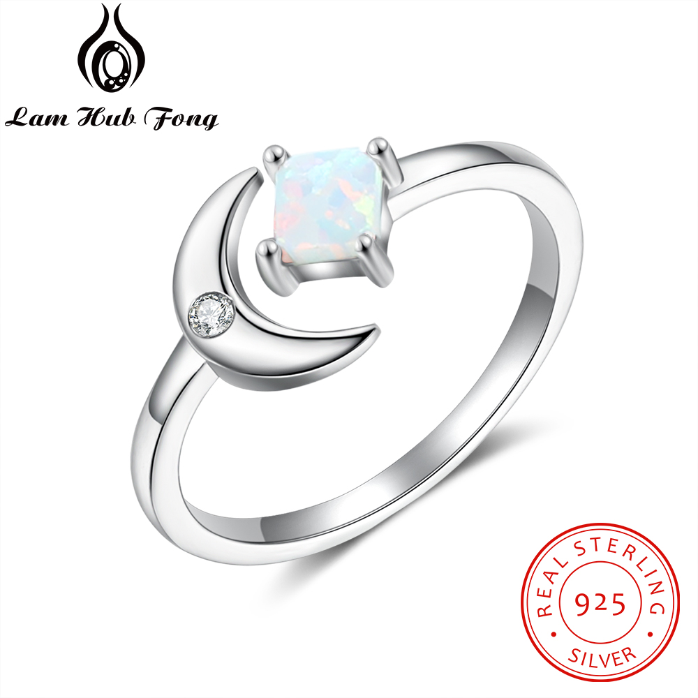 UK Q Moon flower stamped silver 925 boho hippie gypsy Chrysoprase and Opal size US 8 Sterling silver Moons ring with Lapis Lazuli
