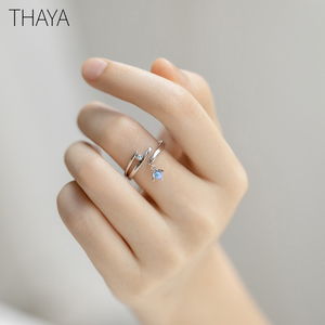 Image 1 - Thaya Midsummer Nights Dream Design Rings Vintage Colored Pearls S925 Sterling Silver Jewelry Ring For Women