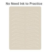 10 pces microblading sobrancelha prática da pele sobrancelha maquiagem permanente sobrancelha treinamento tatuagem da pele supples nenhuma tinta necessária linha branca