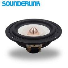 1PC Sounderlink Audio Labs najwyższej klasy 4 cal pełny zakres głośnik odsłuchowy głośnik wysokotonowy głośnik niskotonowy aluminium Bullet 2 warstwy HiFi Diy