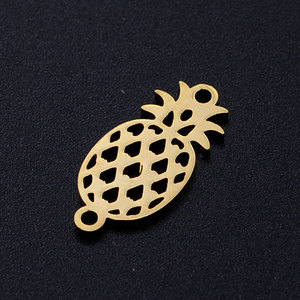5 шт./лот тропический ананас фрукты 316L Нержавеющая сталь DIY соединитель амулеты оптом для изготовления браслетов супер качество