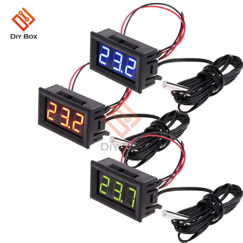 0,56 zoll DC 12V LED Digital Display Thermometer-50℃ ~ 110℃ Temperatur meter Detektor Sonde Temperatur Monitor Panel meter