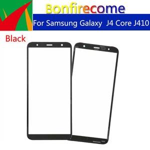 "Image 1 - 10pcs \ lot Touchscreeen Samsung Galaxy J4 Çekirdek J410 J410F J410DS J410G Ön Dış Cam dokunmatik ekran lensi Değiştirme 6.0"""