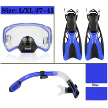 Diving Masks Snorkel Set Professional Swim Snorkeling Tube Scuba Diving Fins Monofin Flippers Shoes Equipment Adult Child