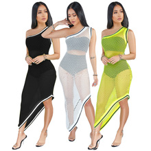 Beach Dress Swimsuits Plage Pareo For The Tunic On Swimsuit Ladies Clothes Popular Sexy Hollow Smock Pack Patchwork