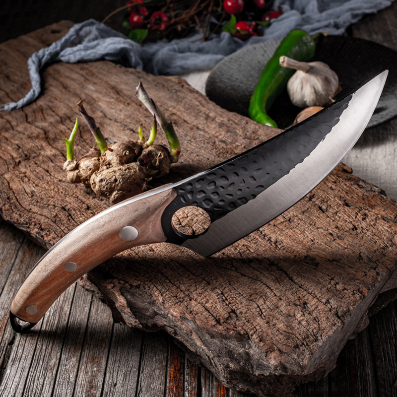 """5.5"""" Meat Cleaver Hunting Knife Handmade Forged Boning Knife Serbian Chef Knife Stainless Steel Kitchen Knife Butcher Fish Knife 3"""