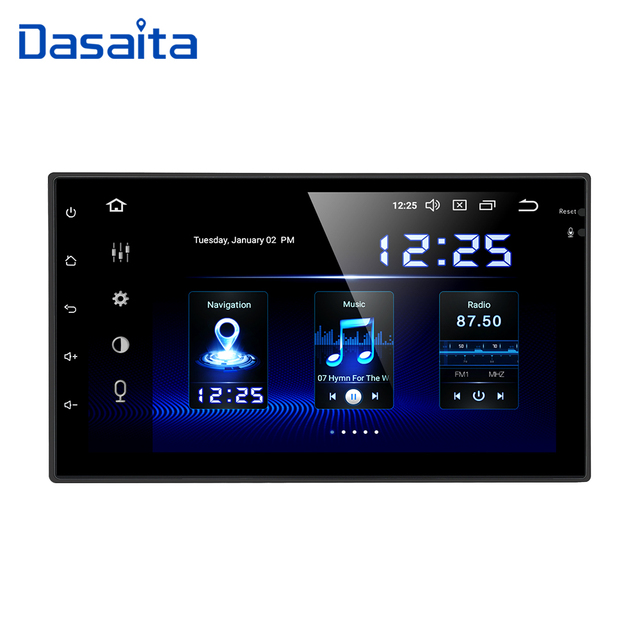 """Dasaita 7"""" Android 10 Car GPS Radio Player for Two Din Universal with Octa Core 4GB 64GB Auto Stereo Video Navi Multimedia"""
