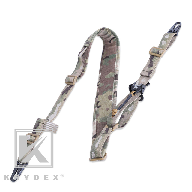 KRYDEX Modular Rifle Sling Strap Removable Tactical 2 Point / 1 Point 2.25 4