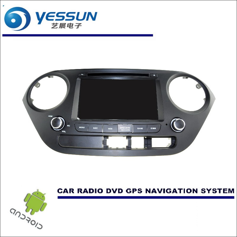 YESSUN Car Android Navigation System For <font><b>Hyundai</b></font> <font><b>Grand</b></font> <font><b>i10</b></font> <font><b>i10</b></font> 2013~2016 Radio Stereo CD DVD Player <font><b>GPS</b></font> Navi Screen Multimedia image