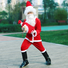 Christmas Santa Claus Costume Cosplay Santa Claus Hat Clothes Fancy Dress In Christmas Men Costume Suits For Adults Dress Up