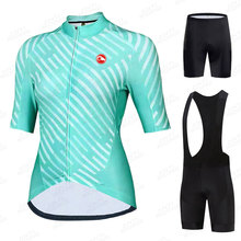 New 2021 Woman's Cycling Jersey Set Pro Bicycle Sportswear Bike Clothes Shorts Sleeve Cycling Clothing Maillot Ropa Ciclismo