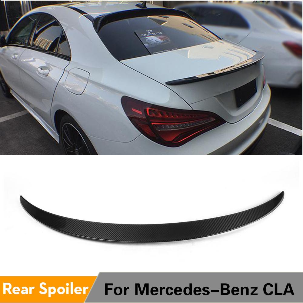 Rear <font><b>Spoiler</b></font> Trunk Boot Wing Lip for Mercedes-Benz CLA Class W117 C117 CLA180 <font><b>CLA200</b></font> CLA45 AMG 2013 - 2017 Carbon Fiber / FRP image