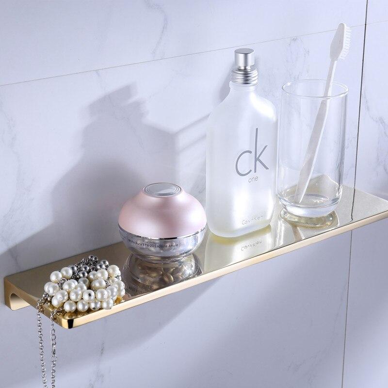 bathroom shower shelves shampoo holder sqaure Bathroom solid brass gold Accessories bath hardware - 2