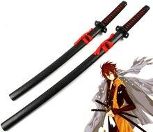 [Drôle] 100cm Cosplay Anime Hakuouki Okita Souji accessoire arme marche Sabre Katana en bois épée modèle déguisement fête Anime spectacle
