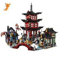 737pcs Diy Ninja Temple Of Airjitzu Ninjagoes Smaller Version Building Blocks Set Compatible With Lepining Toy For Kids Bricks compatible with lego ninja 70751 2150 pcs 06022 blocks ninja figure temple of airjitzu toys for children building blocks 70603