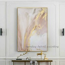 цена Hand painted Modern gold canvas Oil Paintings wall painting Abstract gold Oil Painting art picture Living Room home Decoration