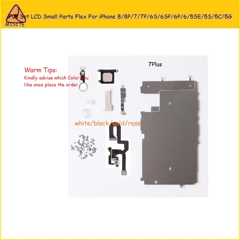 2Pcs Full Set LCD Spare Small Parts Flex Cable for i Phone 7 8 6s 6 Plus 5S SE 5C 5G 8P 7P 6SP Speaker+Front Camera+Home Button image