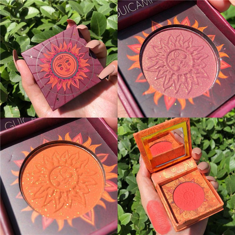 Fashion Blush Powder Waterproof Smudge-proof Easy To Color Lasting Brighten Shiny Baked Blusher