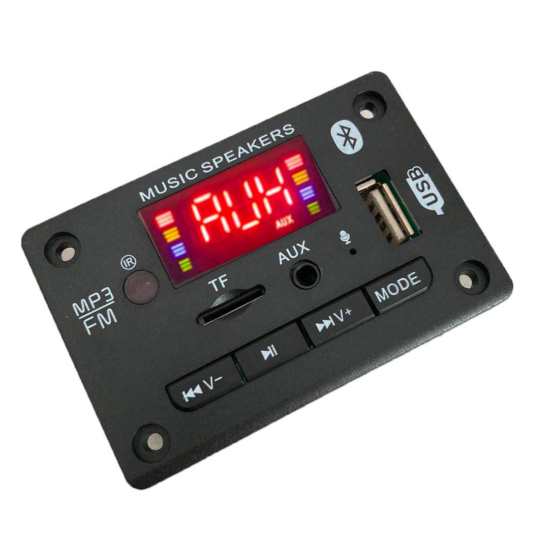 Mp3-плеер оптом, декодер, плата громкой связи 5 в 12 В, Bluetooth 5,0, автомобильный FM-радиомодуль, поддержка FM TF USB AUX рекордеров