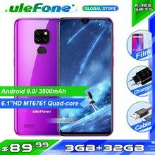 Ulefone Note 7P Smartphone Android 9.0 czterordzeniowy 3500mAh 6.1 calowy ekran Waterdrop 3GB + telefon komórkowy 32GB odblokowanie twarzą