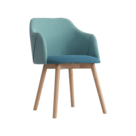 Nordic dining chair modern minimalist home back creative net red desk wooden chair seat solid wood fabric leisure chair
