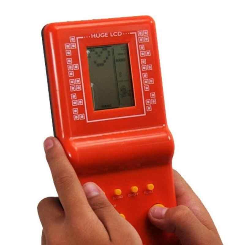 レトロクラシック電子テトリスパズルゲームプレーヤー子供のパズルのおもちゃポータブルミニゲームコンソール内蔵 9 ゲーム