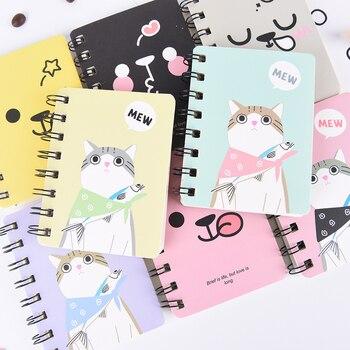 Kawaii Cat Rabbit Notebook Cartoon Panda Bear Coil Journal Diary Korean Stationery Cute