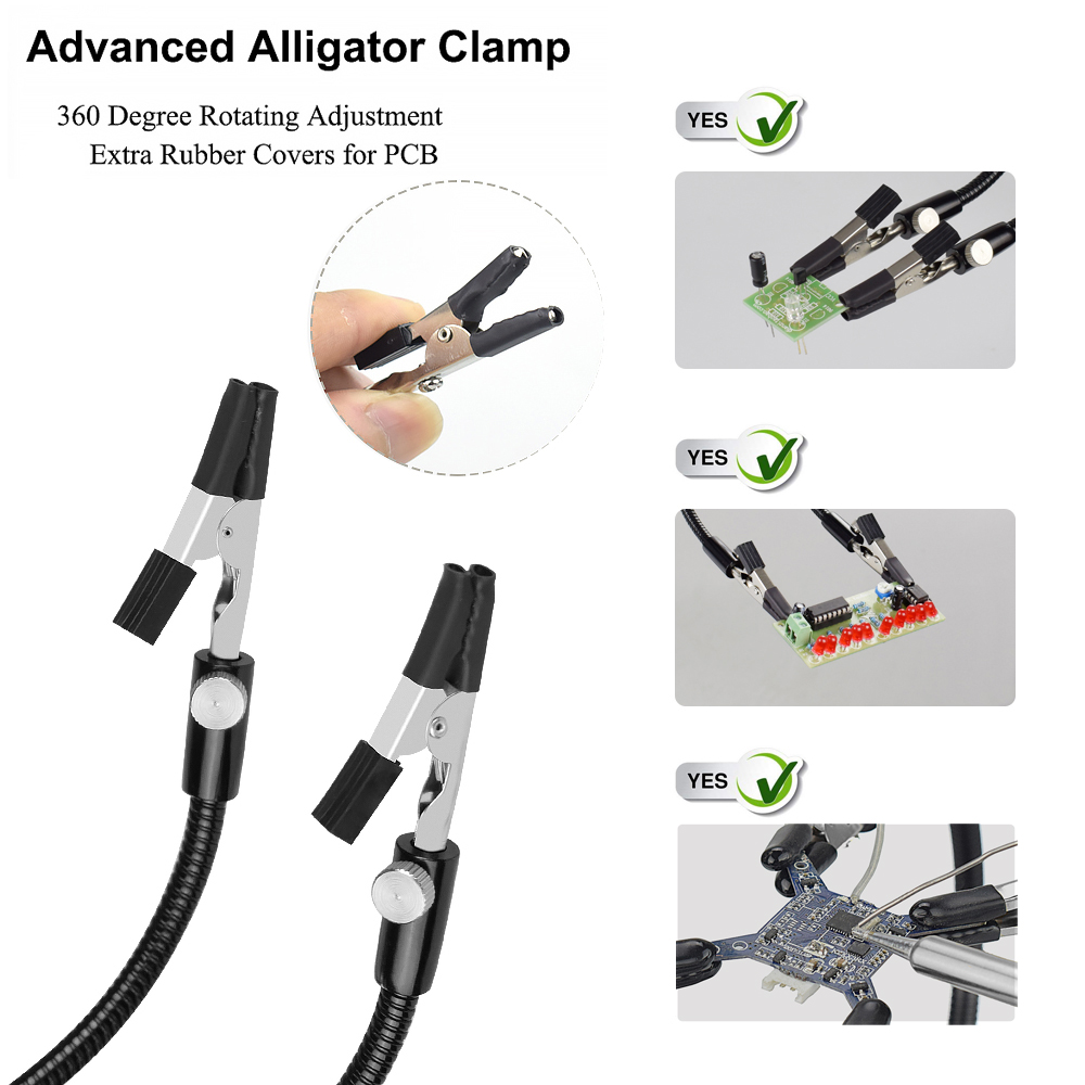 cheapest NEWACALOX Desk Clamp Soldering Station Holder PCB Alligator Clip Multi Soldering Helping Hand Third Hand Tool for Welding Repair