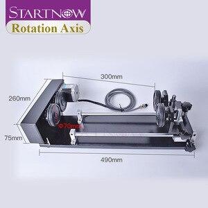 Image 2 - Startnow eixo rotaion gravura acessório com rodas rolos 2 & 3 fase motores de passo para co2 máquina de corte de gravura a laser