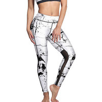 Hot selling net yarn splicing sports body repair lady nine point underpants