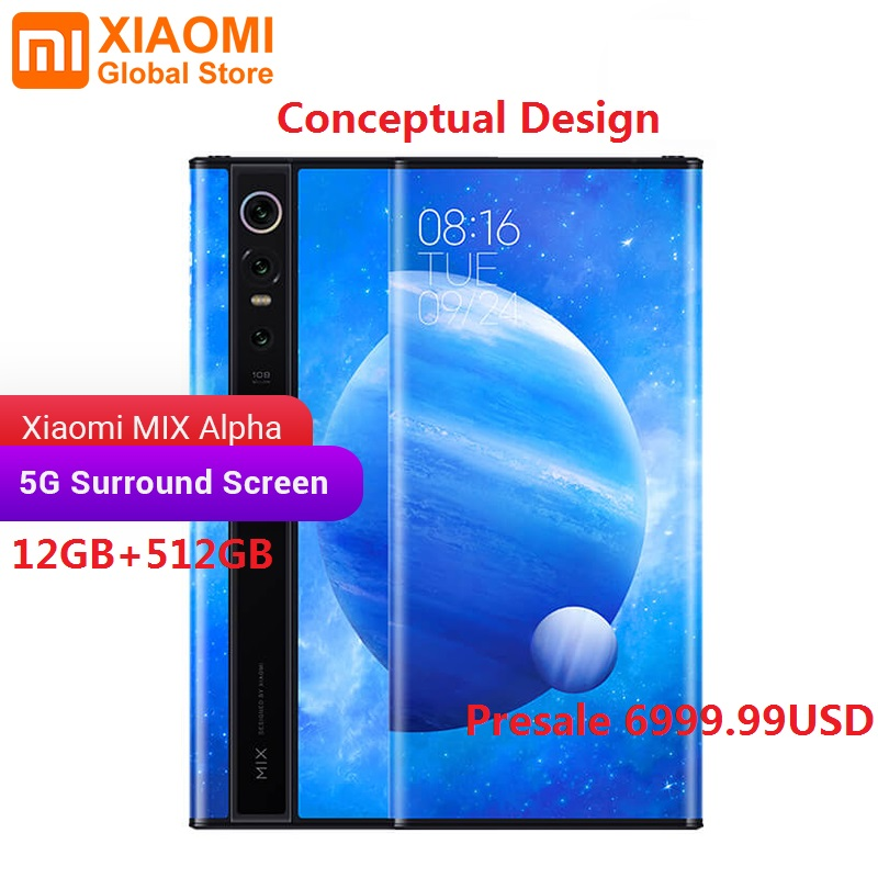 Presale Original Xiaomi MIX Alpha 12GB 512GB Snapdragon 855Plus 7.92
