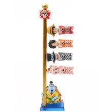 5 pçs figuras de uma peça luffy ace sabo jinbe shirahoshi sereia princesa carpa streamer modelo brinquedos presentes do dia das crianças