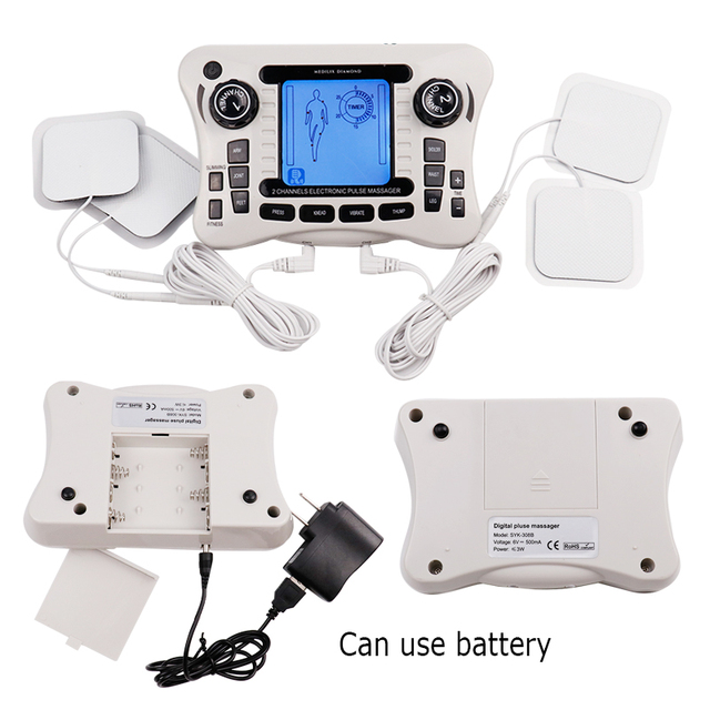 Electronic Pulse Massager Tens Ems Machine massager electrical nerve muscle stimulator Acupuncture Fat Burner Pain Relief 4