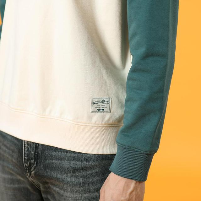 Men Sweatshirts with two contract colors design