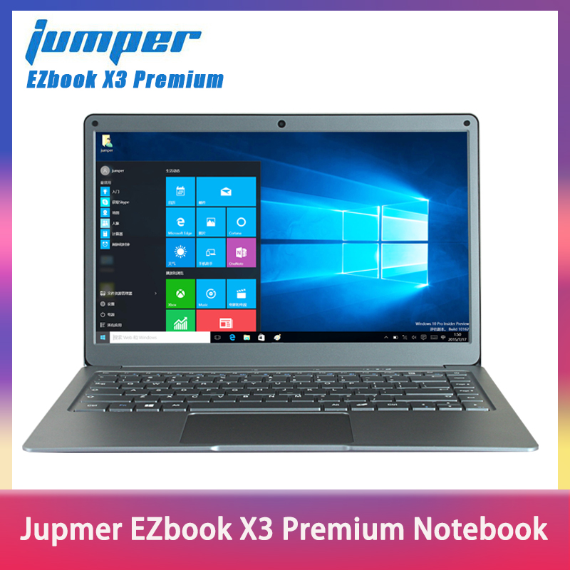 Jumper EZbook X3 Premium Notebook IPS Display Thin Metal Body Laptop Intel N3450 8GB 128GB EMMC 2.4G/5G WiFi Win10 13.3
