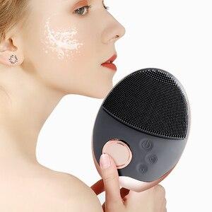 Image 5 - Yüz temizleme fırçası ultrasonik yüz temizleme fırçası elektrikli kablosuz yüz fırça cilt yüz masajı