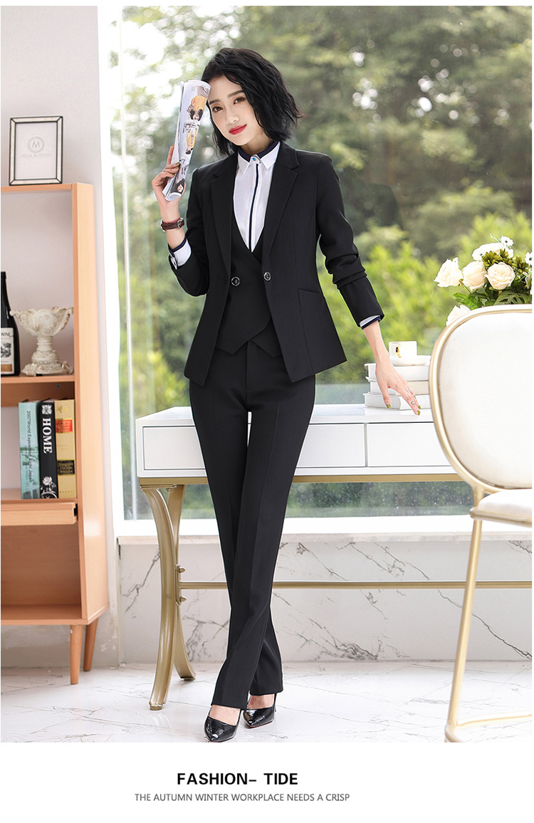 Hf51f0497fa9c46649f6cab7abcc381c07 - Autumn Business Casual Long Trousers Women Solid Black Blue Red Formal Pants Office Ladies Work Wear Straight Suit Pant 4XL
