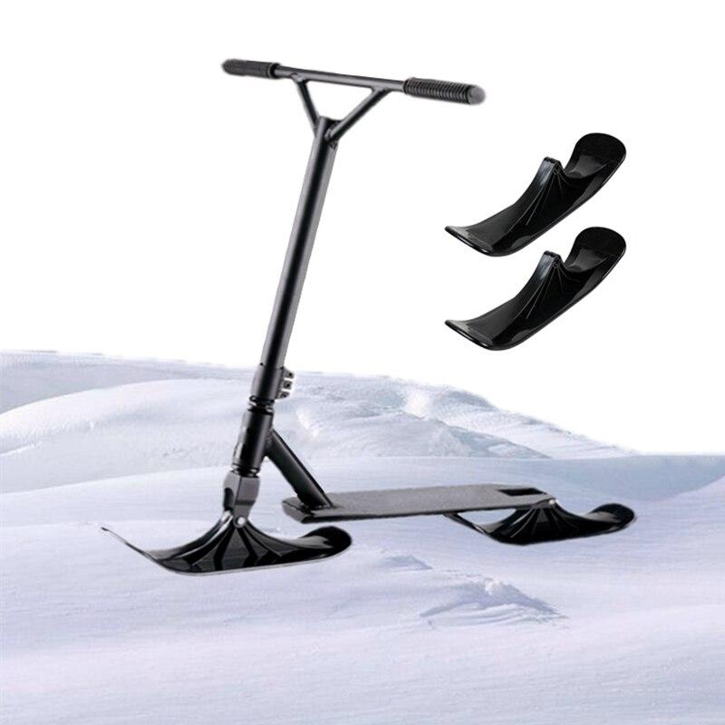2 шт. снег логотип преобразования крепления конвертер комплект доска подставка для лыж сани колеса скутера дети Электрический лыжный катат...