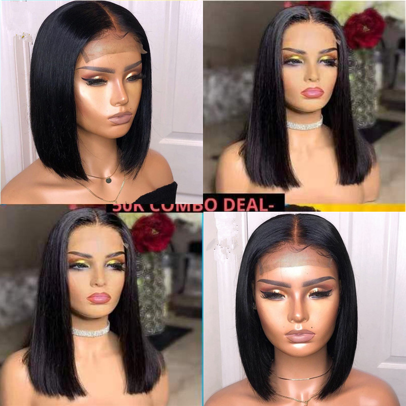 Morichy Hair 4x4 Lace Closure Wigs Bob Straight Human Hair Wigs Brazilian Closure Wig With Baby Hair Pre Plucked 150% Density