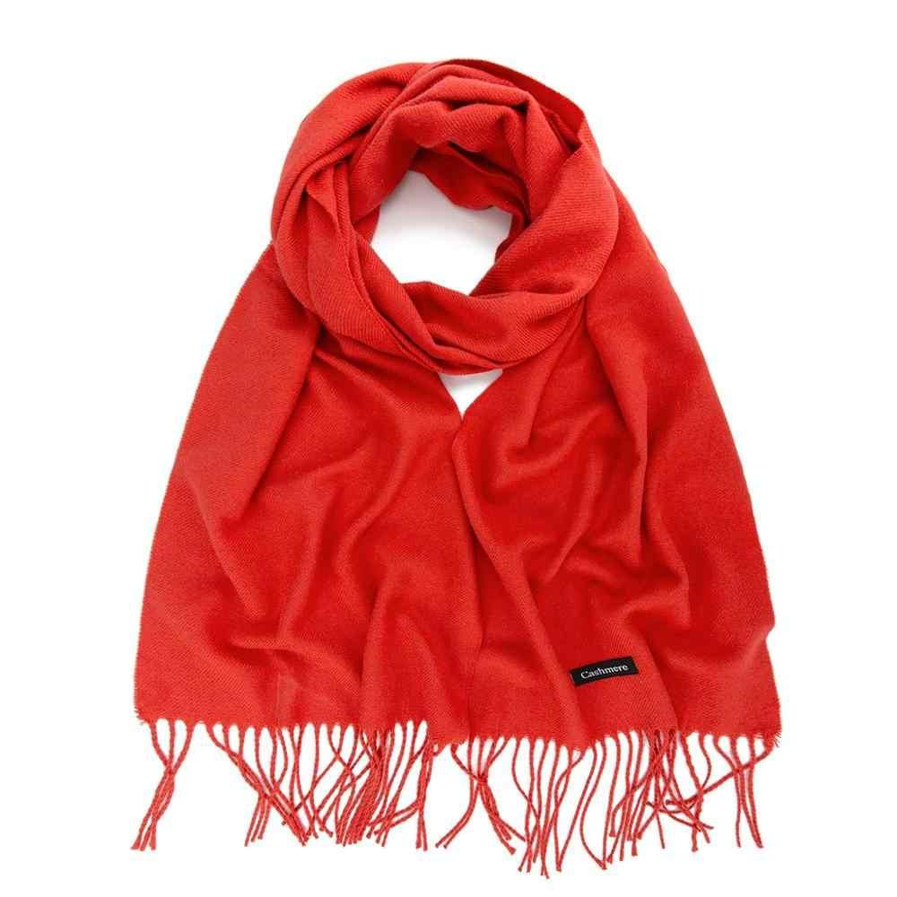 Evrfelan bufandas cálidas para mujer bufanda de moda Otoño Invierno chal señoras sólido lujo marca bufanda mujer envolturas gota envío