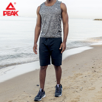 PEAK Running Vest for man Fitness Muscle Sleeveless Sport T-shirts Summer GYM Sport Tank Tops Bodybuilding Vest Cotton 1