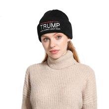 TRUMP bordado letra de punto gorro para mantenerse caliente Otoño Invierno Casual marea Unisex Hip Hop Beanie Hat adulto Cap