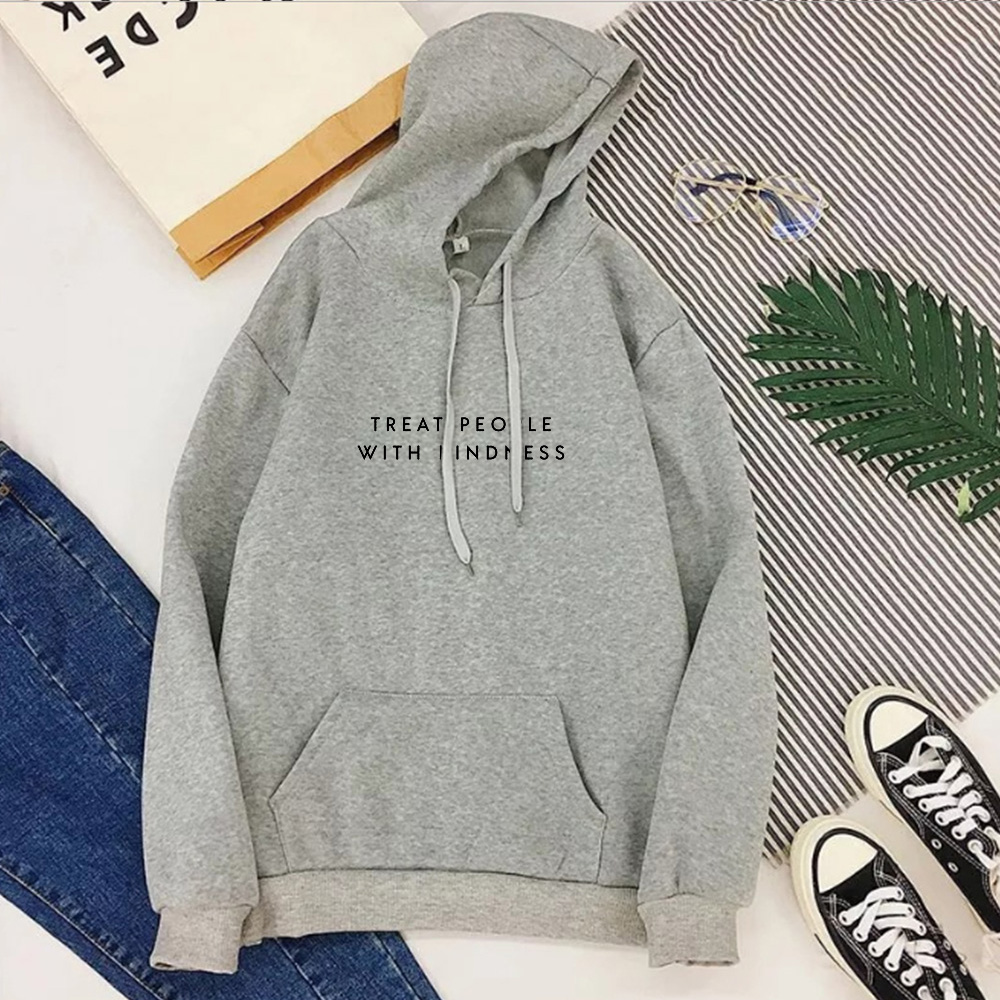 Treat People with Kindness Hoodies Womens Be Kind Sweatshirt Inspirational Quote Woman Clothes 2020 Girls Harry Styles Tops L 5