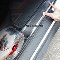 Für Skoda Octavia A7 A5 A4 2017 2018 2019 2020 2021 Auto Tür Wache Stoßstange Carbon Faser Gummi Styling Tür einstiegsleisten